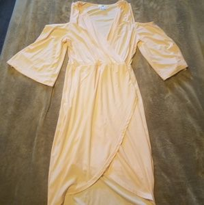 Peach Cold Shoulder Dress